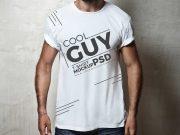 Men's T-Shirt Cowboy Stance PSD Mockup