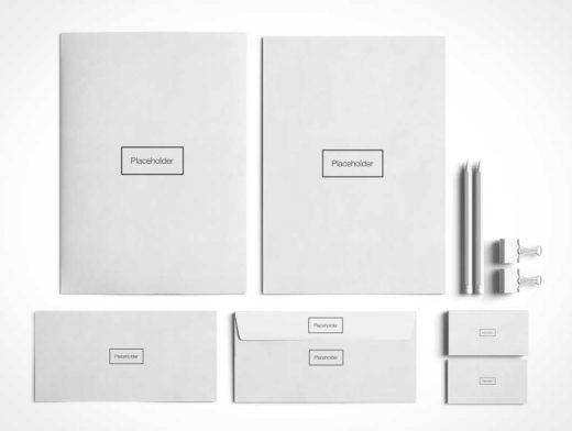 Minimal Stationery & Branding PSD Mockup