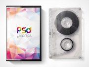 Mix Tape & Cassette Case Cover PSD Mockup