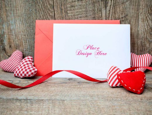 New Years Greeting Card PSD Mockup