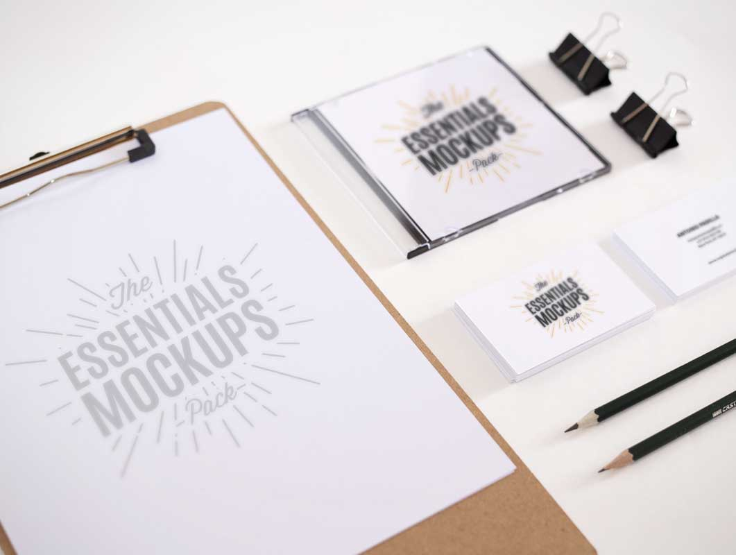 Office Essentials PSD Mockups