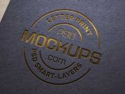 Paper Letterpress Logo PSD Mockup