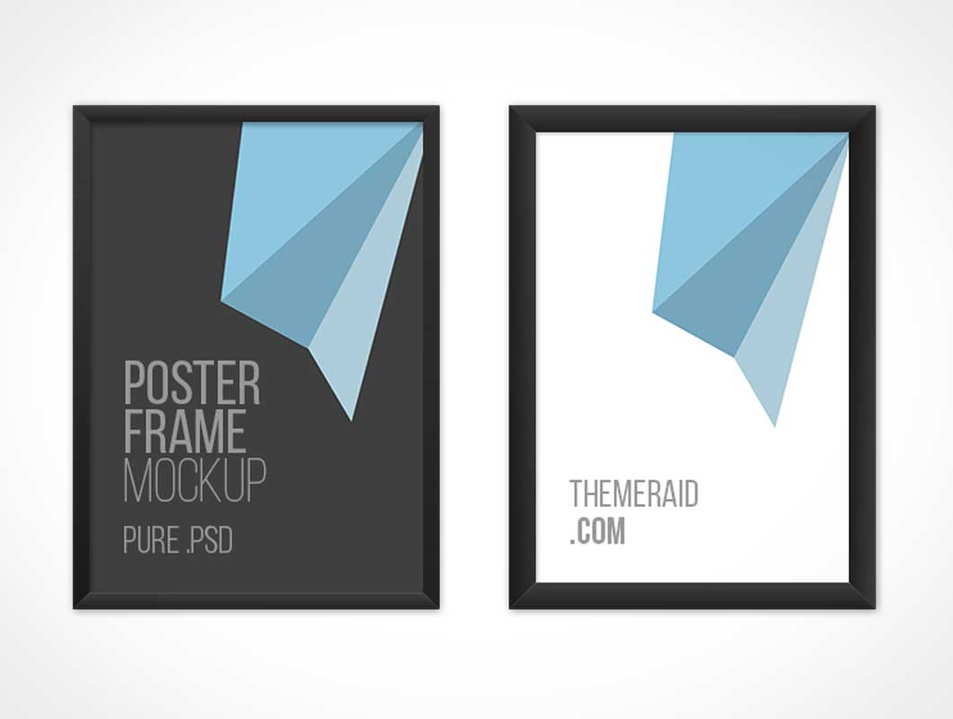 Posters With Variable Frame Thickness PSD Mockup
