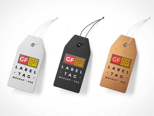 Product Label Tag PSD Mockup