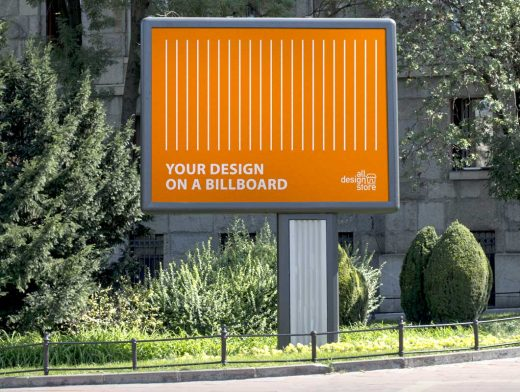Roadside Billboard Advertising PSD Mockup
