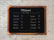 Shop Price Chalkboard Menu PSD Mockup