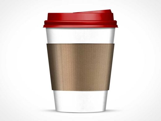 Sideview Paper Coffee Cup PSD Mockup