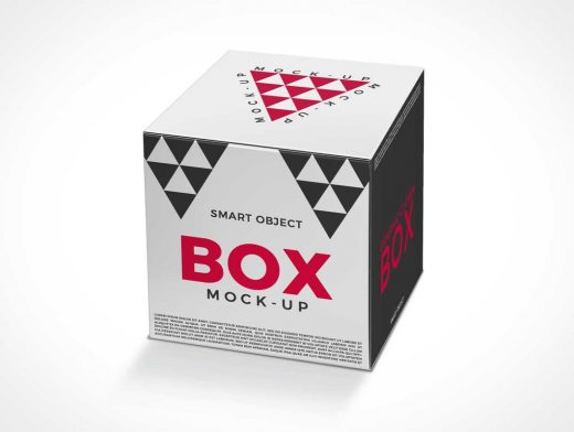 Small Square Cube Box Packaging PSD Mockup - PSD Mockups