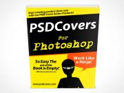 Softcover Standing Face Forward PSD Mockup