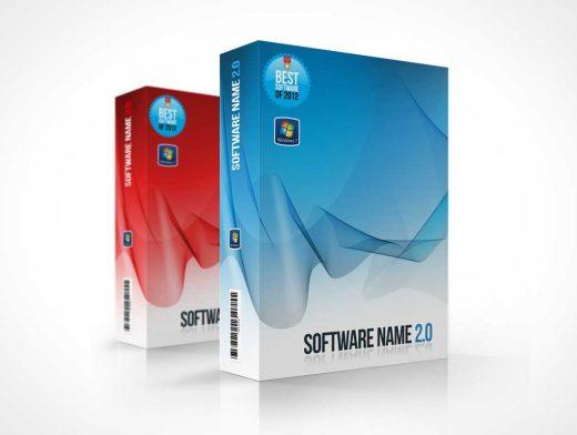 Software Product Box PSD Mockup