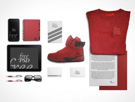 Sport Branding Stationery PSD Mockup