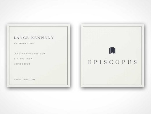Square Business Cards PSD Mockup