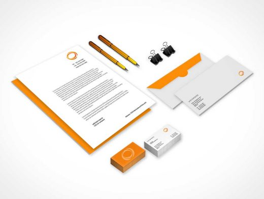 Stationary PSD Mockup for Graphic Designers