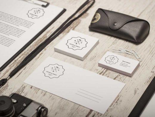 Stationery Company Identity PSD Mockup