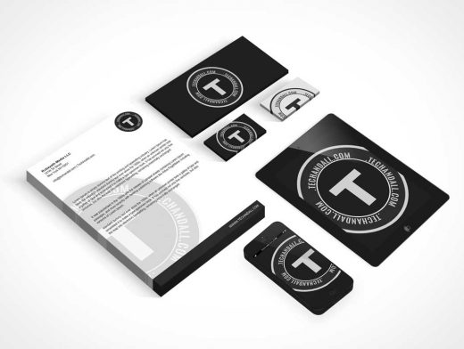 Stationery Corporate Branding Identity PSD Mockup