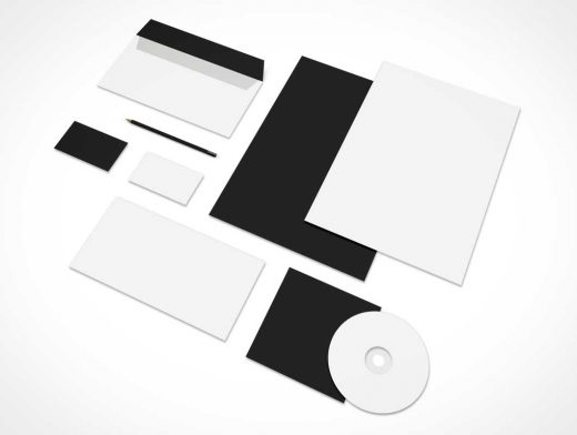 Stationery Corporate Branding Presentation PSD Mockup