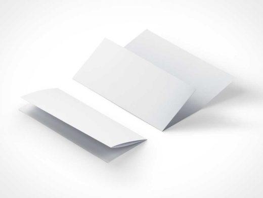 Tri Fold 8-5x11 Inch PSD Mockup