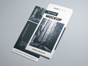 Tri-Fold Brochure Showcase PSD Mockup