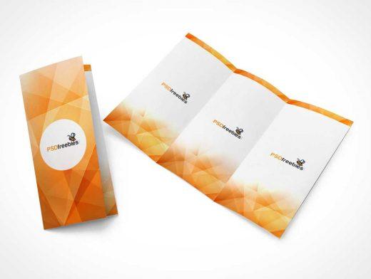 Tri-Fold Brochure Spread PSD Mockup