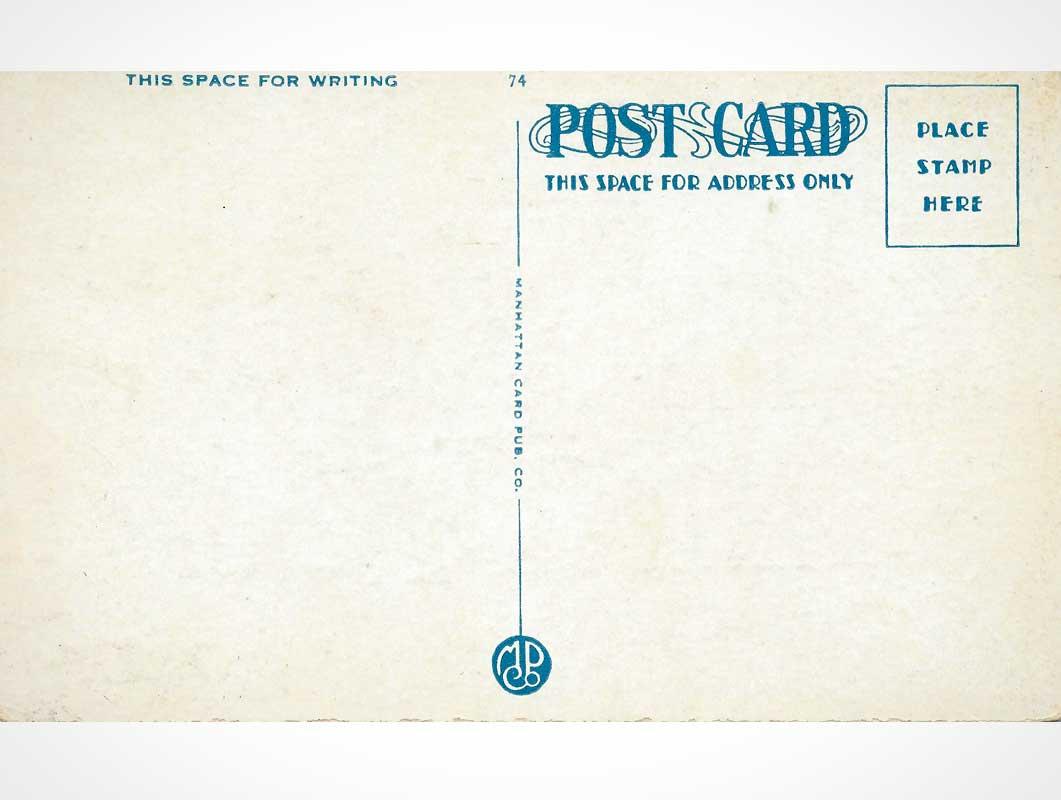 Vintage Postcards Reverse Side PSD Mockups