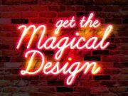 Wall Neon Glow Text Effect PSD Mockup