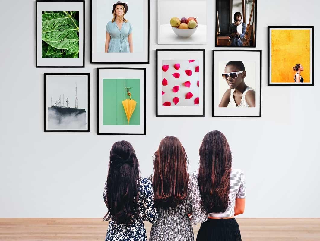Wall Photo Frames Gallery PSD Mockup