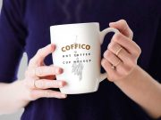 Woman Holding Ceramic Coffee Mug PSD Mockup