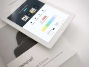 iPad Tablet & Hardcover Magazine PSD Mockup