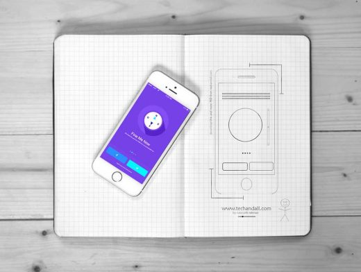 iPhone iOS App Showcase PSD Mockup