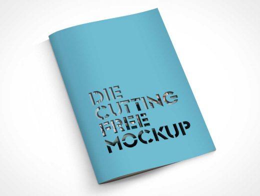 A4 Die-Cut Brochure PSD Mockup