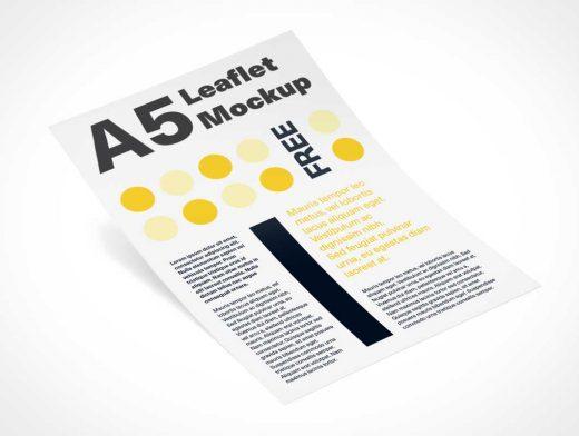 A5 Leaflet Flyer PSD Mockup