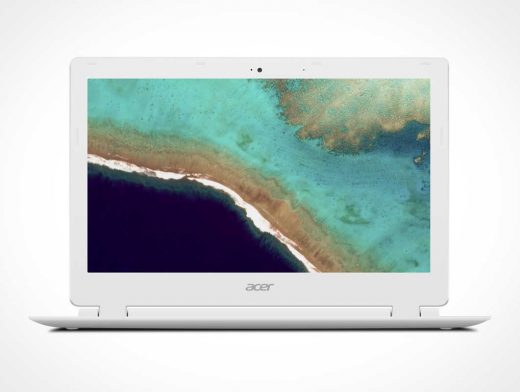 Acer Chromebook Laptop PSD Mockup