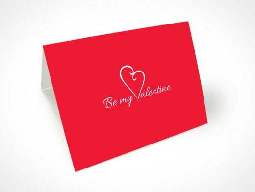 Beautiful Valentine's Day Greeting Card PSD Mockup