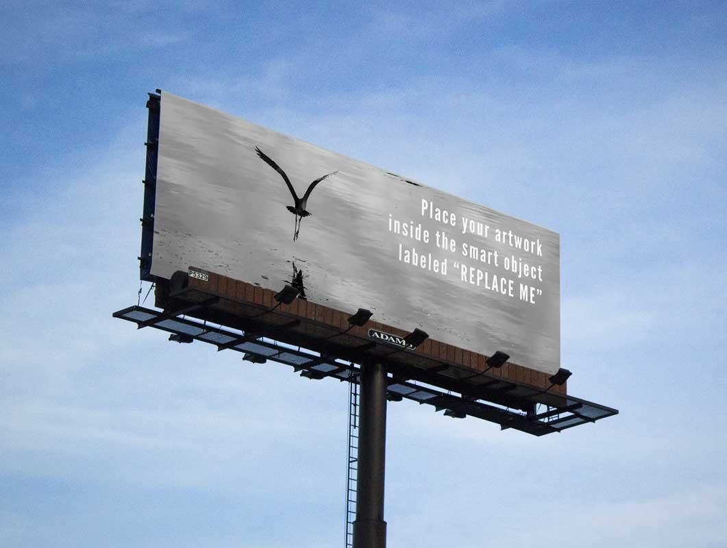 Billboard Outdoor Roadside Advertising PSD Mockup