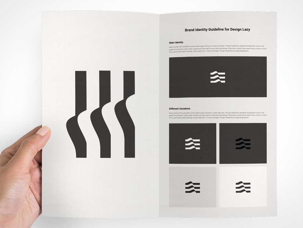 Brochure Flyer Presentation Inside Left & Right Panels PSD Mockup