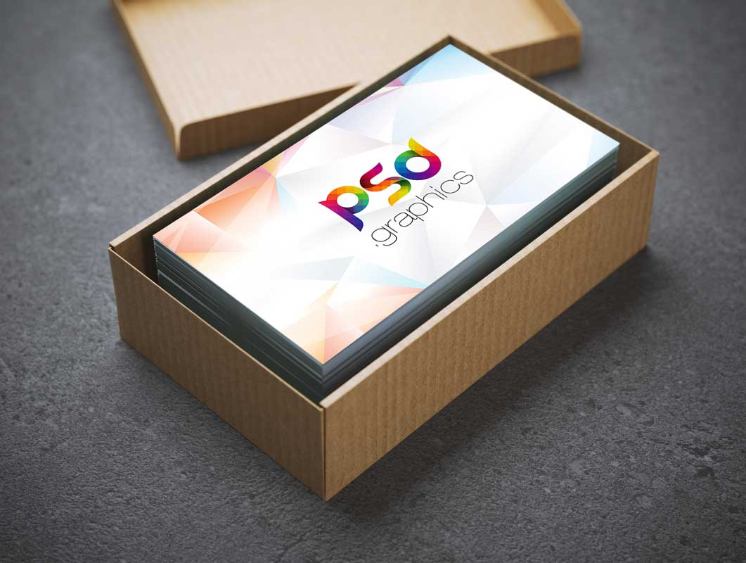 Business card cardboard box container psd mockup psd mockups business card cardboard box container psd mockup colourmoves