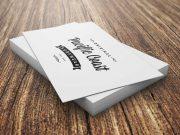 Business Cards Short Stack Pile PSD Mockup