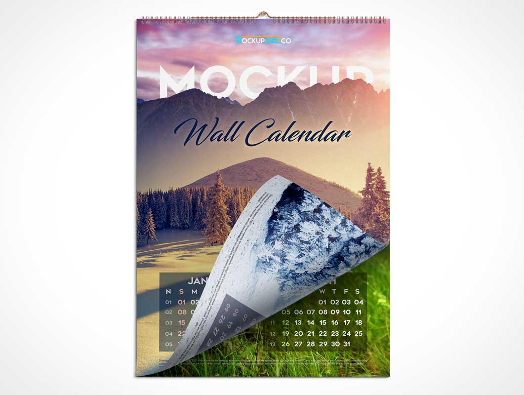 Calendar Ring Bound & Wall Hung PSD Mockup