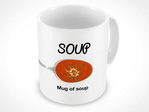 Ceramic Mug Glaze Downward View PSD Mockup