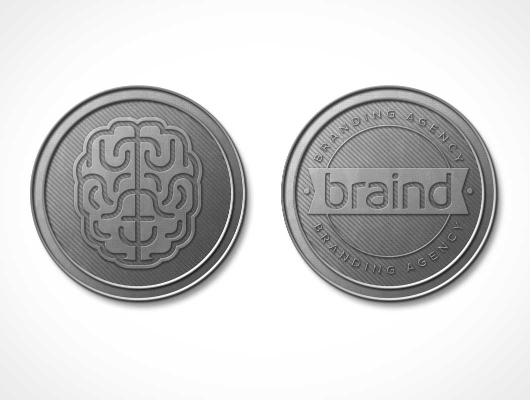 Coins Currency Heads & Tails PSD Mockup