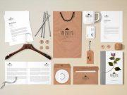 Corporate C-Suite Stationery Scene Branding PSD Mockup