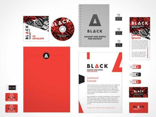 Corporate Stationery Identity Branding PSD Mockup