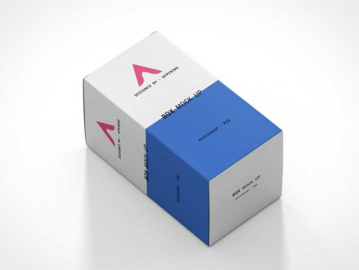 Cosmetic Box Or Medicine Packaging PSD Mockup