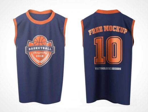 Customizable Apparel Shirts Front & Back PSD Mockup