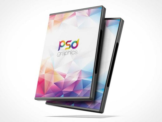DVD BluRay Jewel Case Box Front Covers PSD Mockup