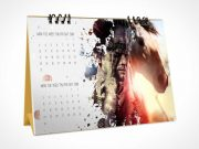 Desk Calendar Ring Bound Flip-Style PSD Mockup