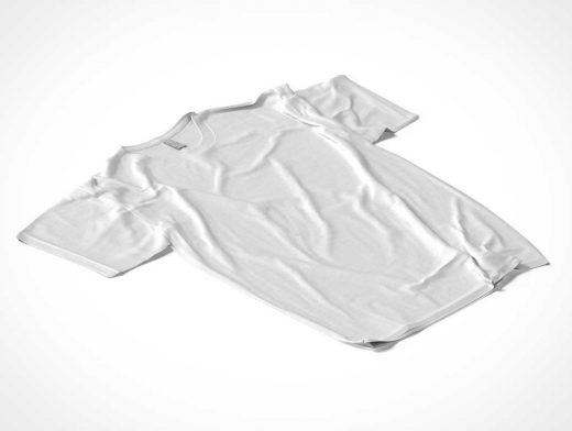 Disheveled T-Shirt Front With Wrinkles PSD Mockup