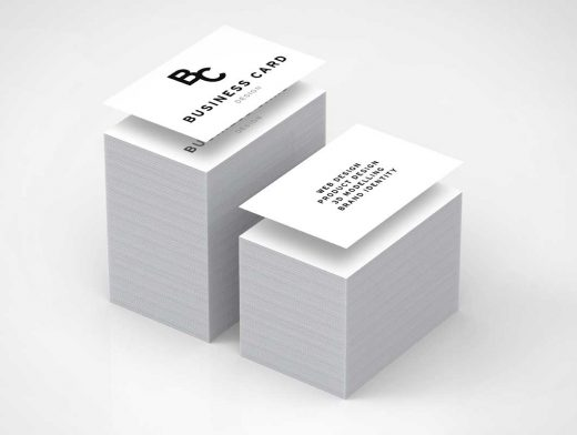 Double Stacks Business Card PSD Mockup