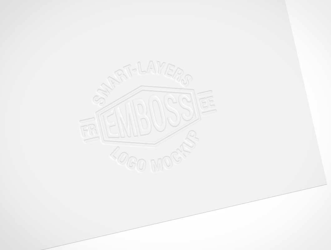 Embossed Logo On Corporate Letterhead PSD Mockup