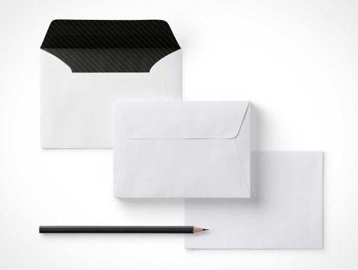 Envelope & Letter / RSVP Announcement Correspondence PSD Mockup
